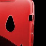 Gelové S-line pouzdro pro HTC one M7- červené - 3/3