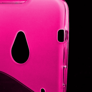 Gelové S-line pouzdro pro HTC one M7- růžové - 3