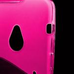 Gelové S-line pouzdro pro HTC one M7- růžové - 3/6
