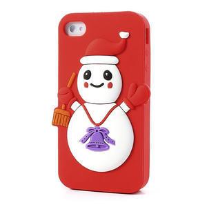 Silikonové pouzdro na iPhone 4 4S - sněhulák - 3