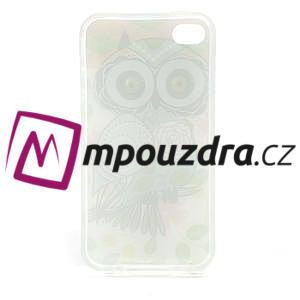 Gelové pouzdro na iPhone 4 4S - sova - 3