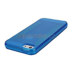Gelové pouzdro pro iPhone 5, 5s- modré - 3