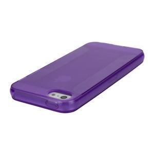 Gelové pouzdro pro iPhone 5, 5s- fialové - 3