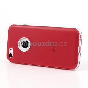 Gelové rámové pouzdro pro iPhone 5C- červené - 3