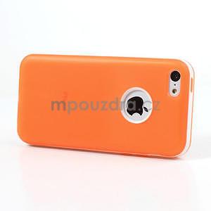 Gelové rámové pouzdro pro iPhone 5C- oranžové - 3
