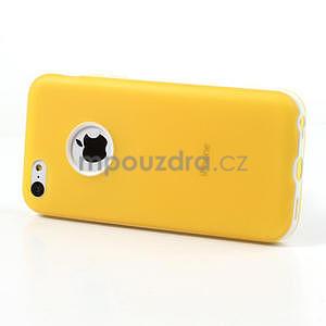 Gelové rámové pouzdro pro iPhone 5C- žluté - 3