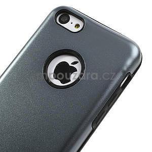 Gelové metalické pouzdro pro iPhone 5C- šedé - 3