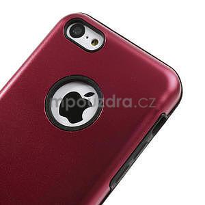 Gelové metalické pouzdro pro iPhone 5C- červené - 3