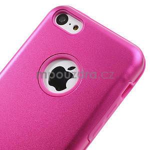 Gelové metalické pouzdro pro iPhone 5C- růžové - 3