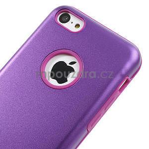 Gelové metalické pouzdro pro iPhone 5C- fialové - 3