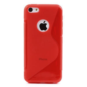 Gelové S-line pouzdro pro iPhone 5C- červené - 3