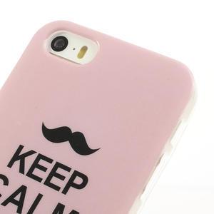 Gelové pouzdro na iPhone 5, 5s- láska a knír - 3