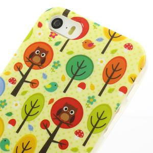 Gelové pouzdro na iPhone 5, 5s- Sovy a stromy - 3