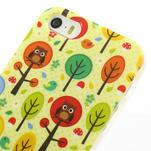 Gelové pouzdro na iPhone 5, 5s- Sovy a stromy - 3/5