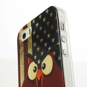 Gelové pouzdro na iPhone 5, 5s- kuřecí americká vlajka - 3