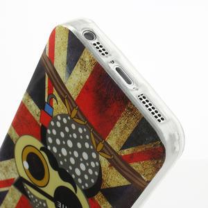 Gelové pouzdro na iPhone 5, 5s- Jack vlajka - 3