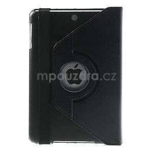 PU kožené 360 °  pouzdro pro iPad mini-černé - 3