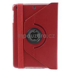 PU kožené 360 °  pouzdro pro iPad mini- červené - 3