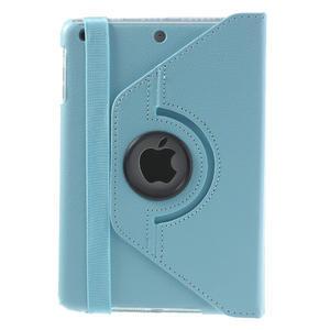 PU kožené 360 °  pouzdro pro iPad mini- modré - 3
