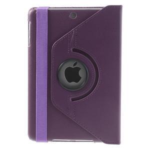 PU kožené 360 °  pouzdro pro iPad mini- fialové - 3