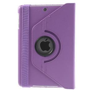PU kožené 360 °  pouzdro pro iPad mini- světlefialové - 3