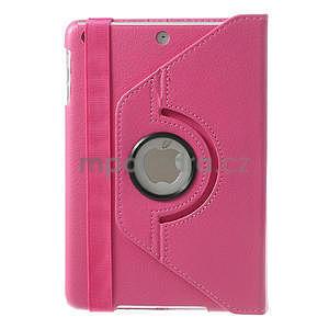 PU kožené 360 °  pouzdro pro iPad mini- růžové - 3