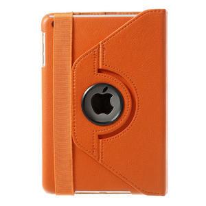 PU kožené 360 °  pouzdro pro iPad mini- oranžové - 3