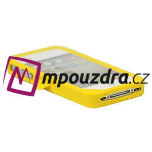 Silikonový Tučňák na iPhone 4 4S - žlutý - 3