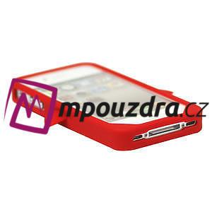 Silikonový Tučňák na iPhone 4 4S - červený - 3