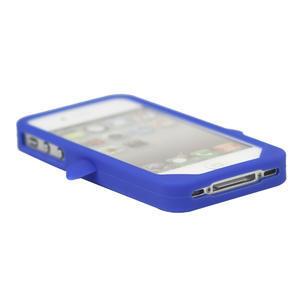 Silikonový Tučňák na iPhone 4 4S - modrý - 3