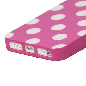 Gelové PUNTÍK pouzdro pro iPhone 5, 5s- růžový - 3