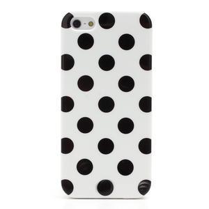 Gelové PUNTÍK pouzdro pro iPhone 5, 5s- bílé - 3