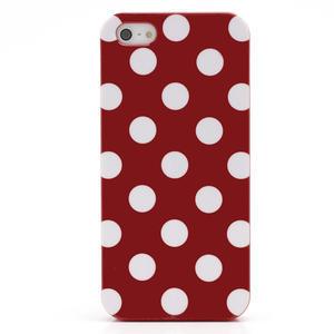 Gelové PUNTÍK pouzdro pro iPhone 5, 5s- červené - 3