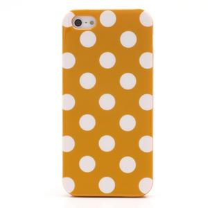 Gelové PUNTÍK pouzdro pro iPhone 5, 5s- oranžové - 3
