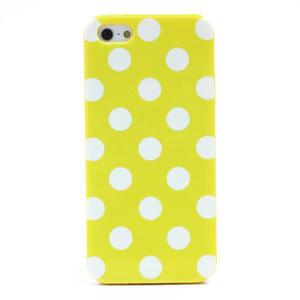 Gelové PUNTÍK pouzdro pro iPhone 5, 5s- žluté - 3
