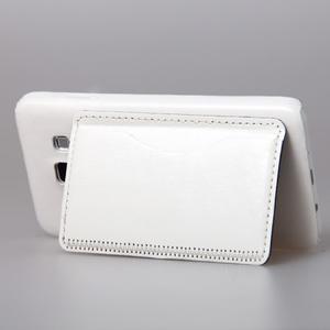 PU kožený/plastový kryt se stojánkem na Samsung Galaxy A3 - bílý - 3