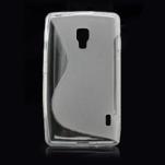 Gelové S-line pouzdro pro LG Optimus L7 II P710- šedé - 3/4