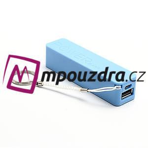 2600mAh externí baterie Power Bank - modrá - 3