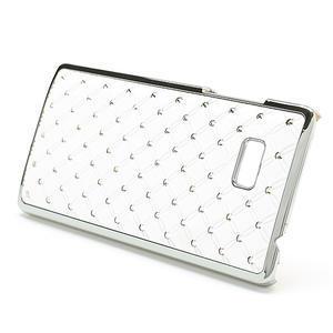 Drahokamové pouzdro pro HTC Desire 600- bílé - 3