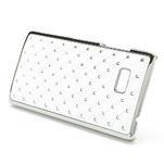 Drahokamové pouzdro pro HTC Desire 600- bílé - 3/4