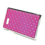 Drahokamové pouzdro pro HTC Desire 600- růžové - 3/5