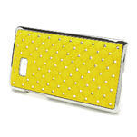 Drahokamové pouzdro pro HTC Desire 600 -žluté - 3/5