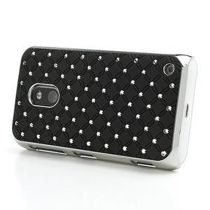 Drahokamové pouzdro na Nokia Lumia 620- černé - 3
