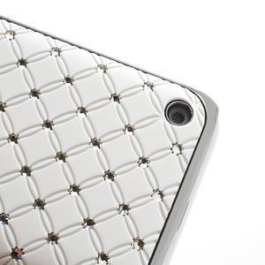 Drahokamové pouzdro na Nokia Lumia 620- bílé - 3