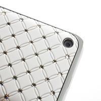 Drahokamové pouzdro na Nokia Lumia 620- bílé - 3/4