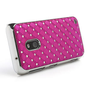 Drahokamové pouzdro na Nokia Lumia 620- růžové - 3