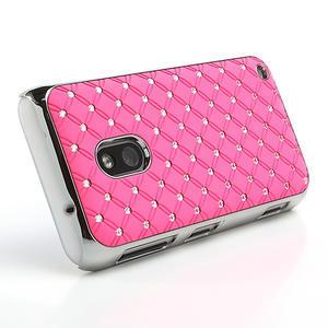 Drahokamové pouzdro na Nokia Lumia 620- světlerůžové - 3