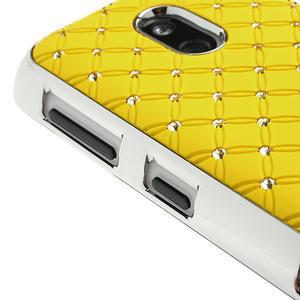 Drahokamové pouzdro na Nokia Lumia 620- žluté - 3