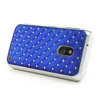 Drahokamové pouzdro na Nokia Lumia 620- modré - 3/4