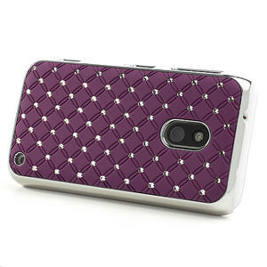 Drahokamové pouzdro na Nokia Lumia 620- fialové - 3